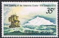 Norfolk Island SG129 1973 Captain Cook Bicentenary (3rd issue) 35c unmounted mint